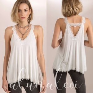 Must have Softest Lace Satin Tank